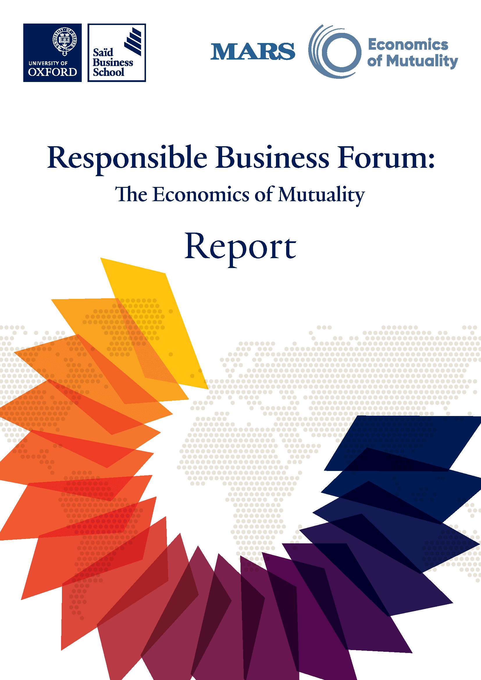 Responsible Business Report Front Cover