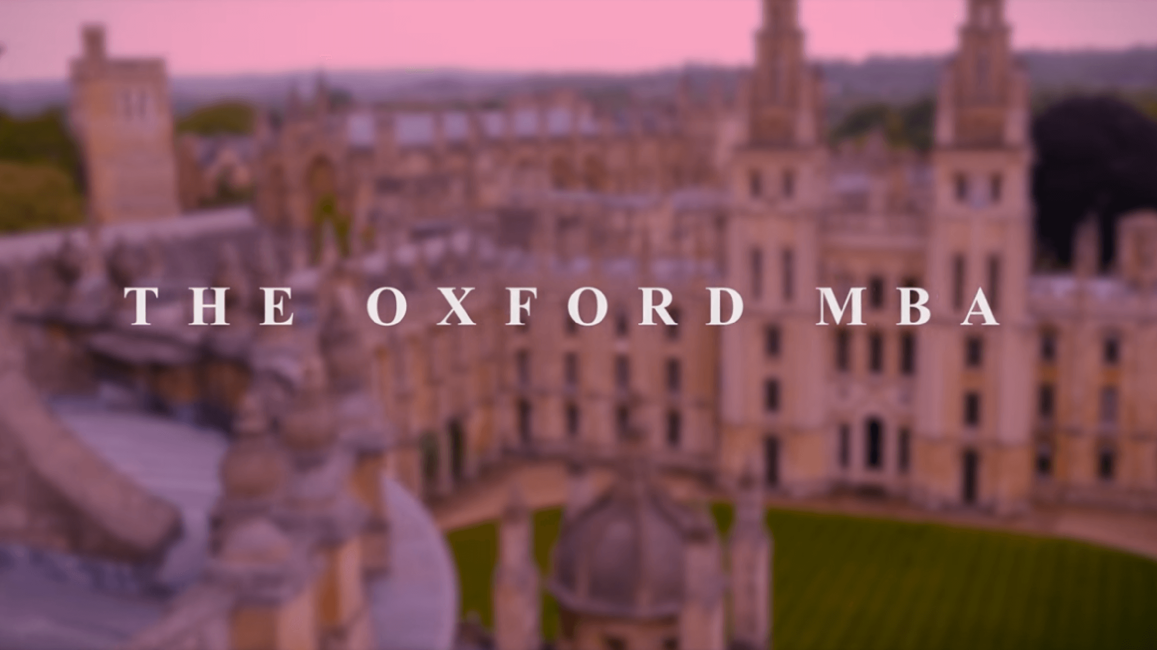 Oxford MBA Video