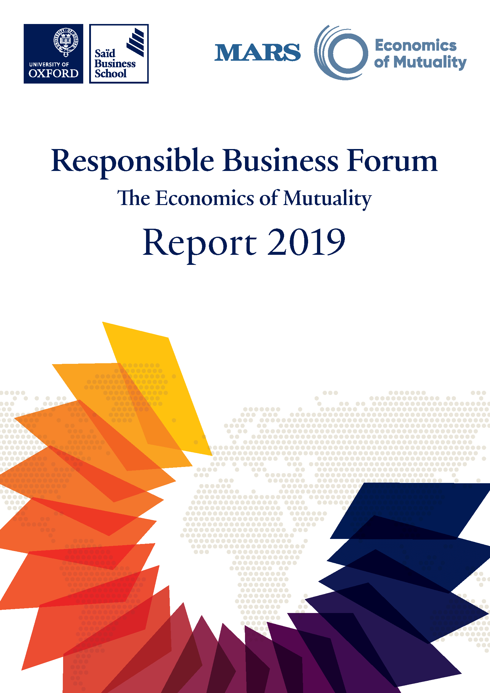 2019 Responsible Business Report - Front Cover