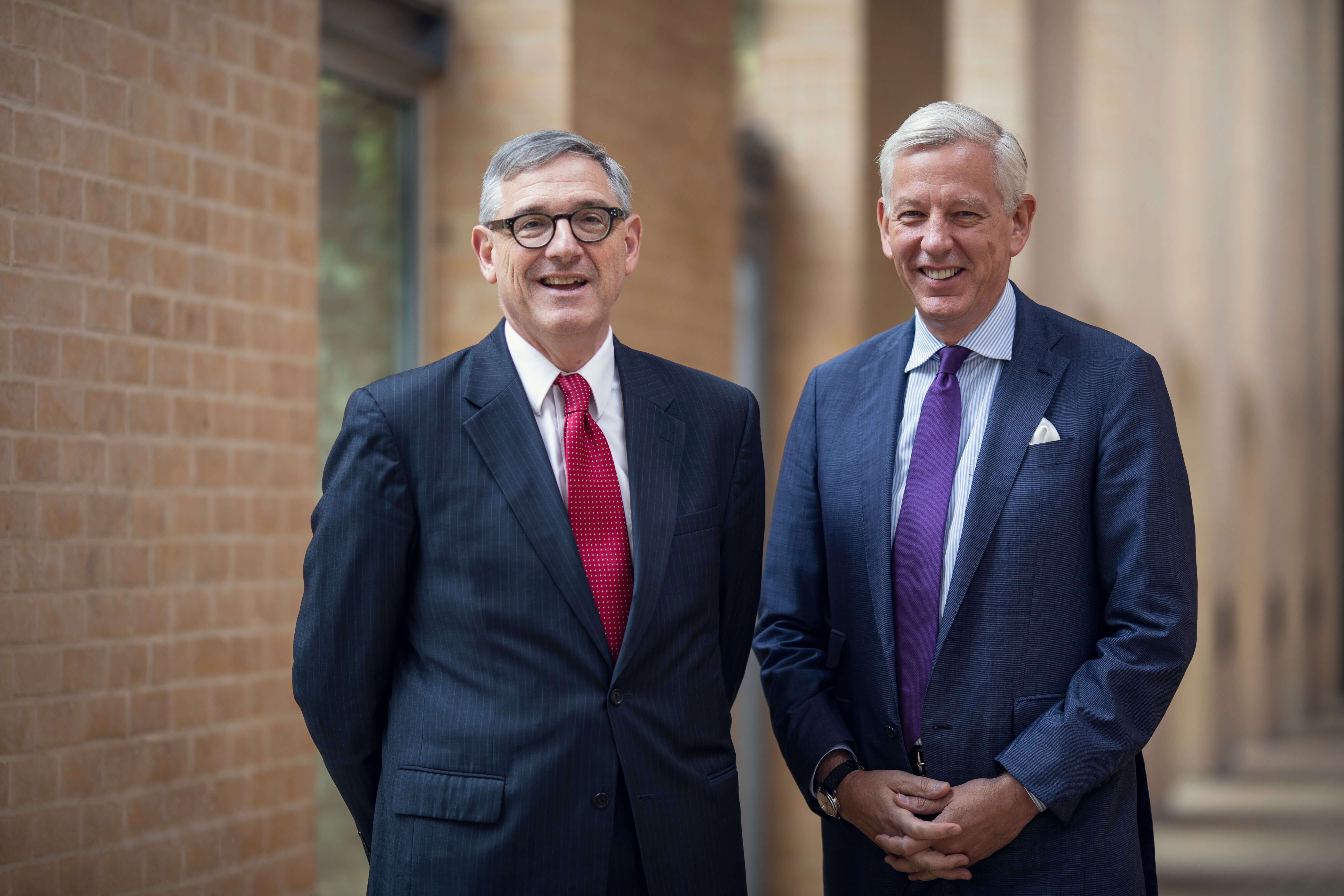 Dominic Barton and Dean Peter Tufano