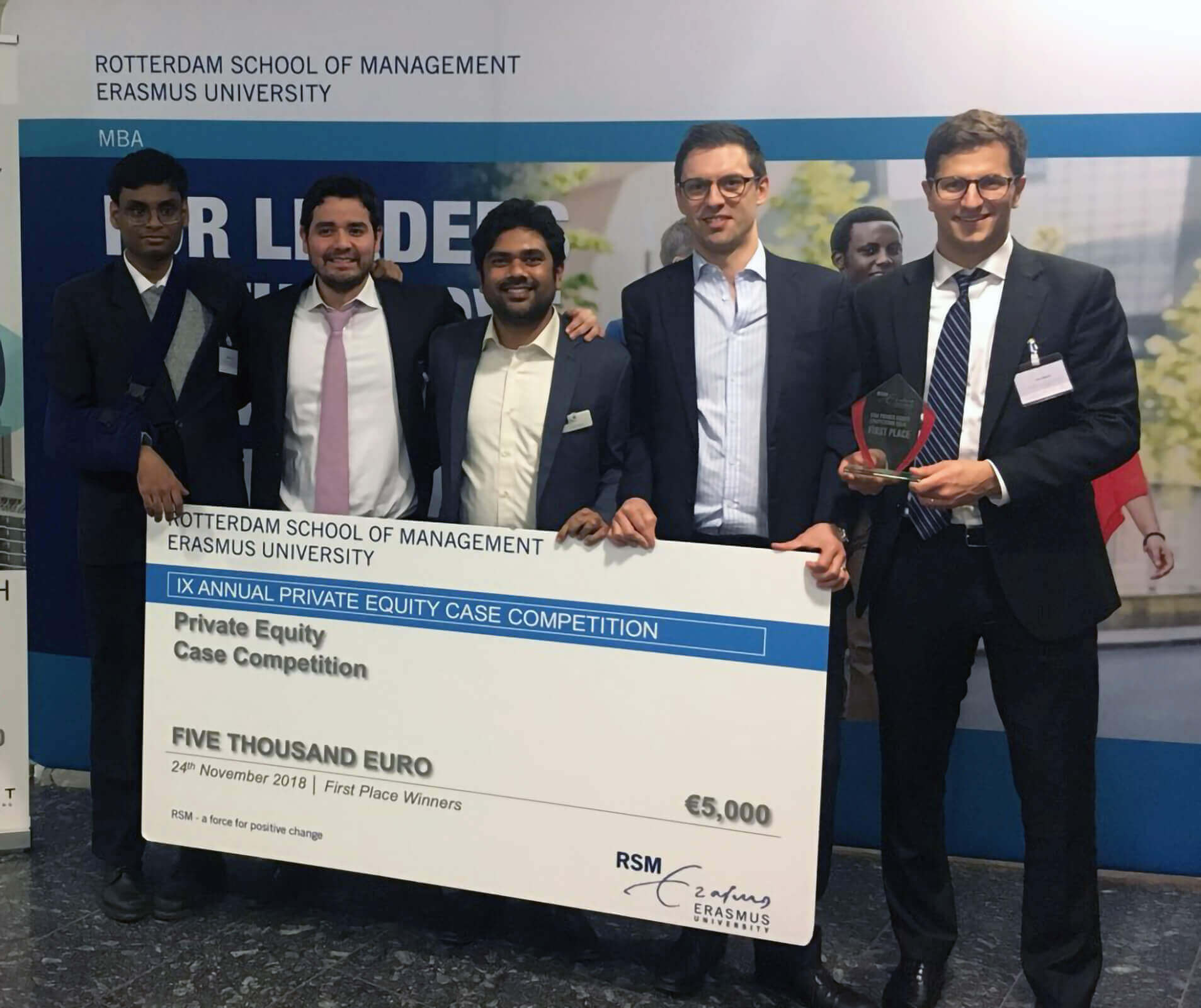MBA students win RSM Private Equity Competition