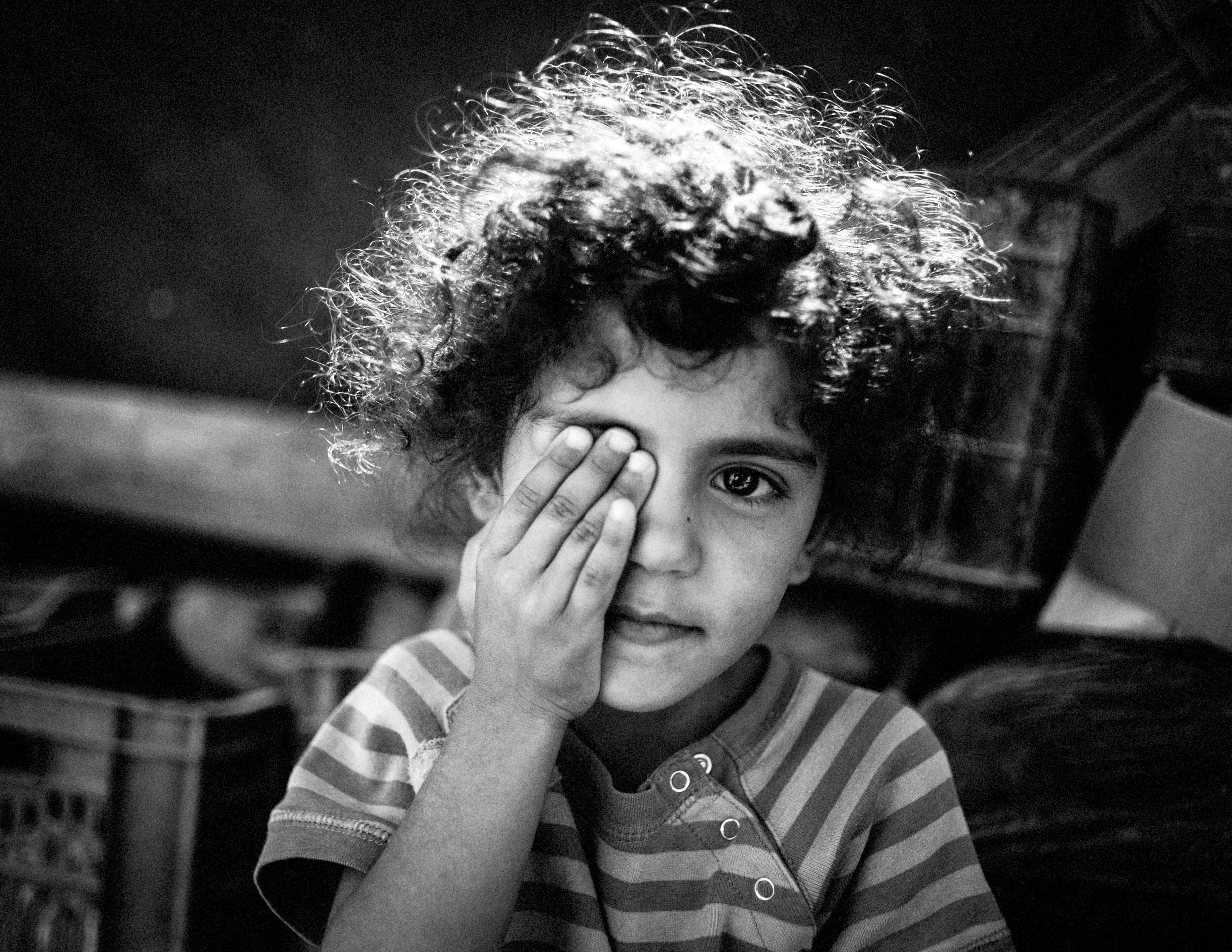 Zaatari, refugee child