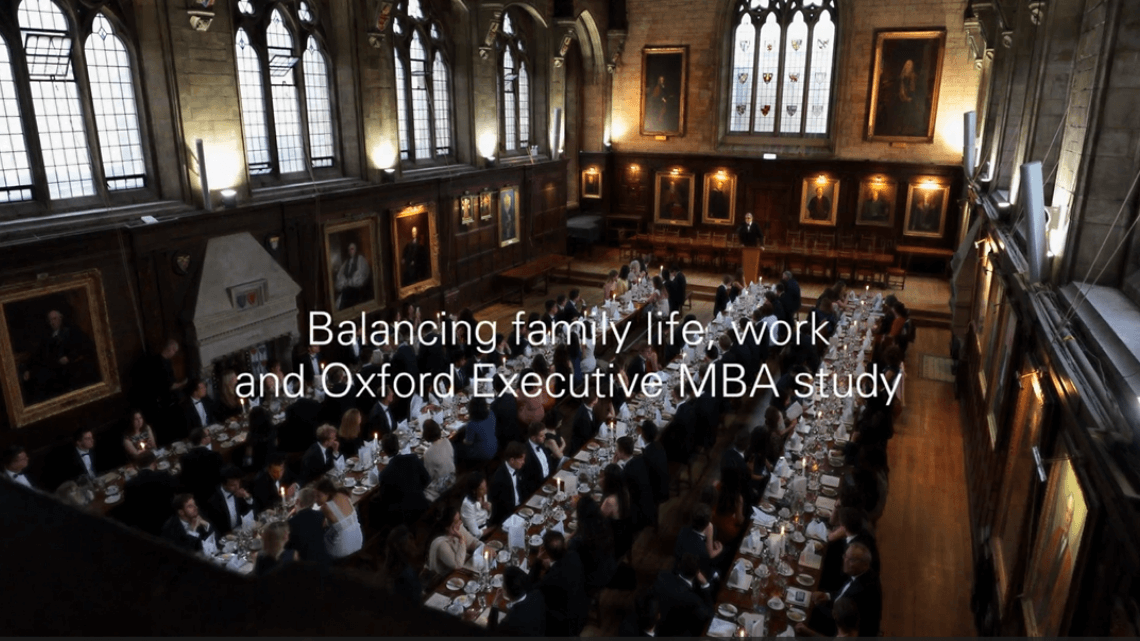 Oxford college dinner
