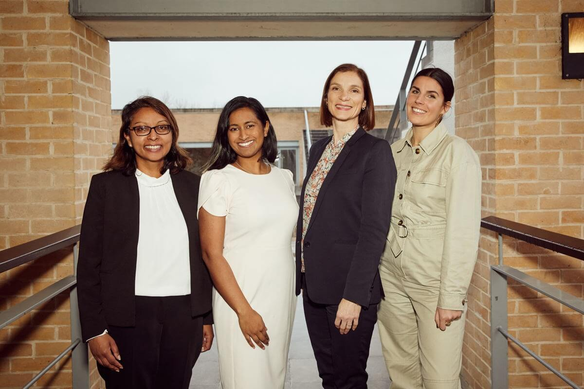 L to R Fathima Hussain, Charm Legrand, Sara Beck, Holly Brooker