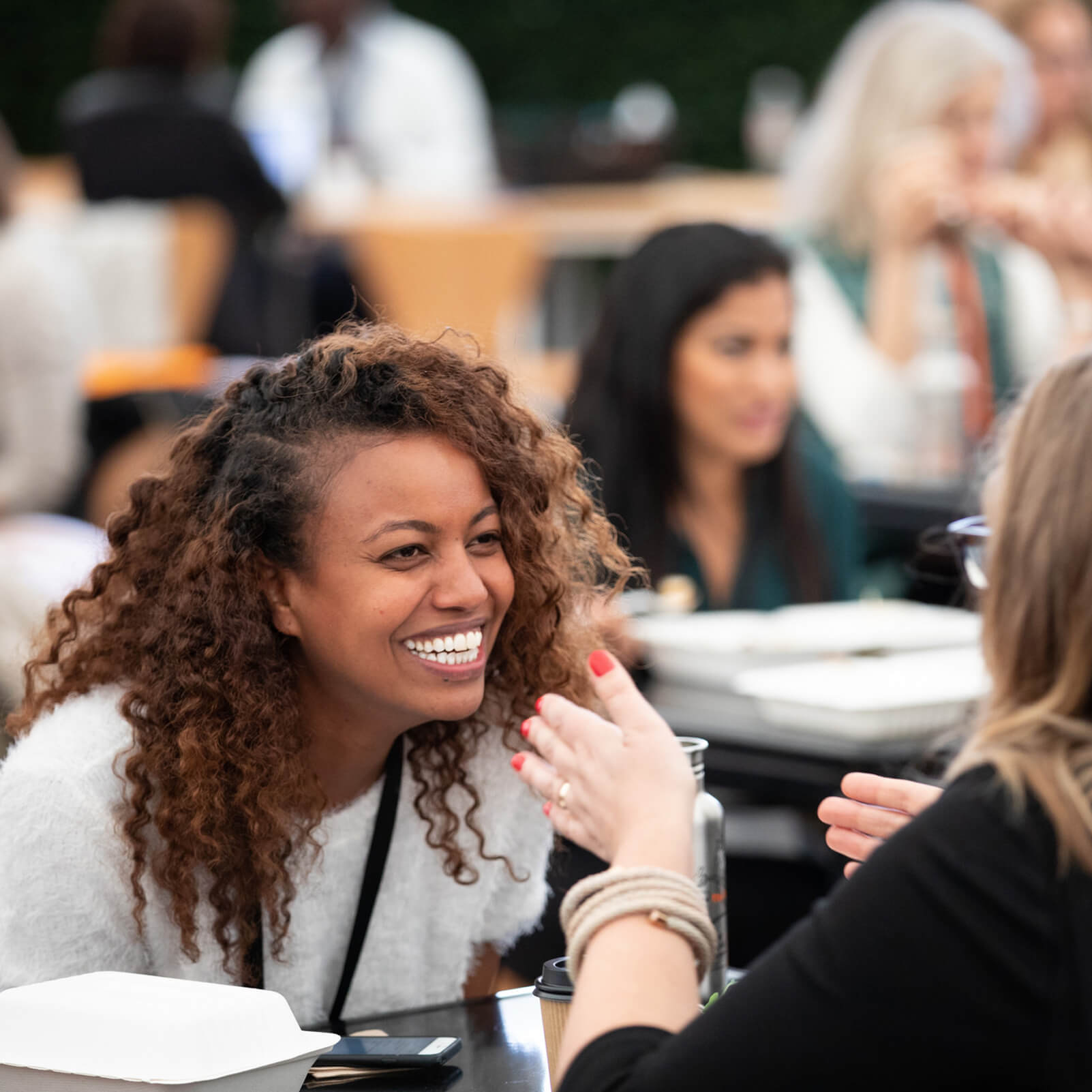 Skoll World Forum 2018 - Young Woman Networking