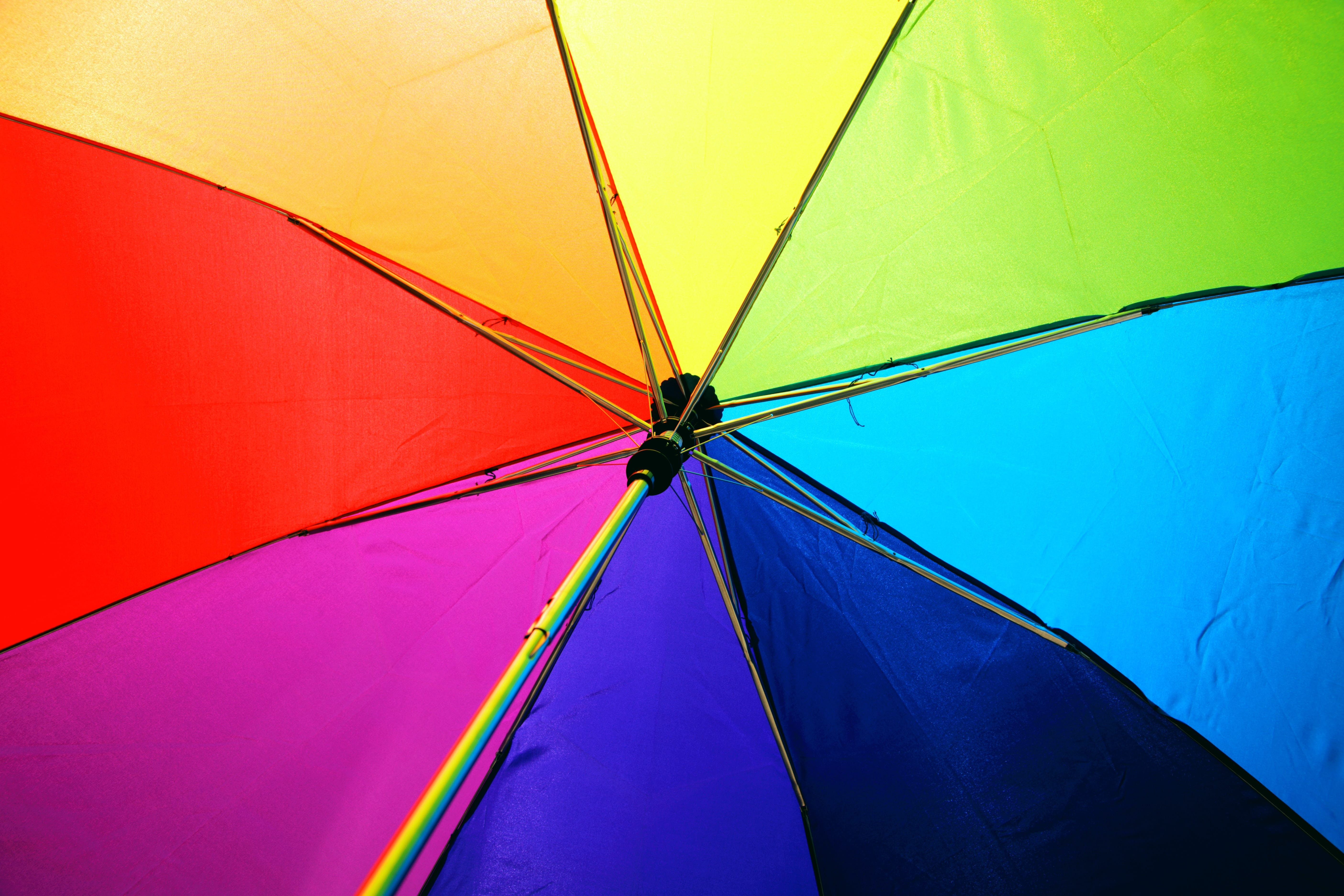 LGBTQI rainbow umbrella