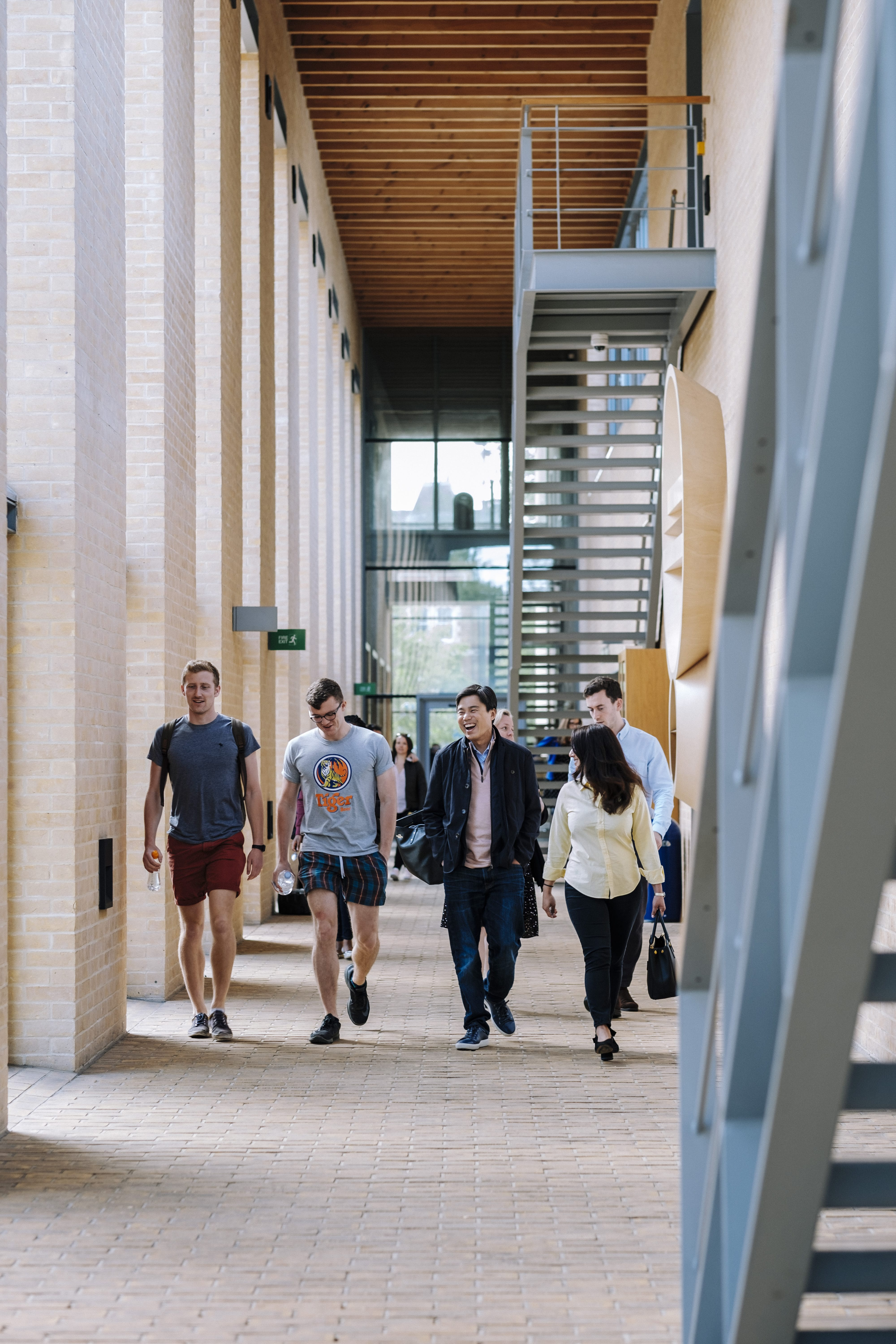 Students walking in Said Business School