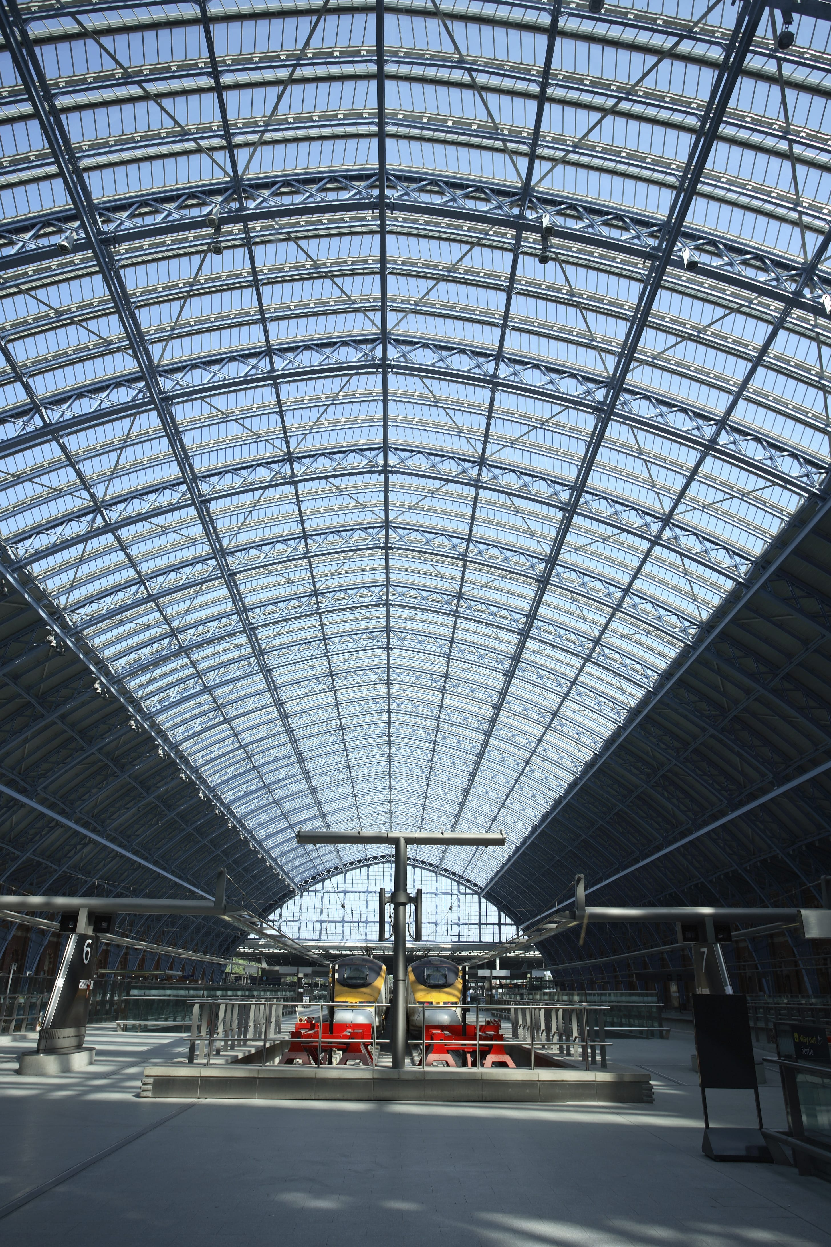 St Pancras train station platform
