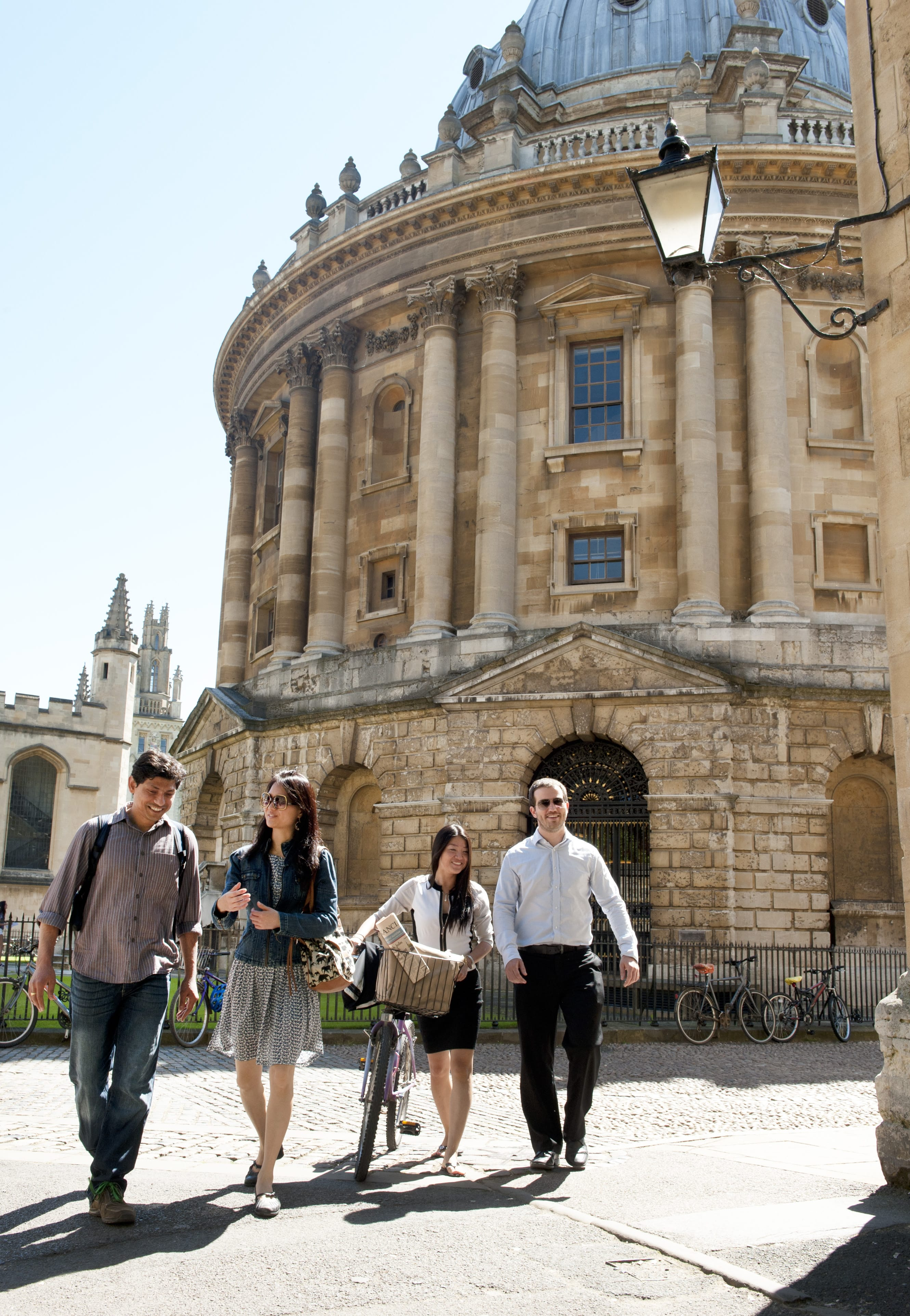 Students and Radcliffe Camera