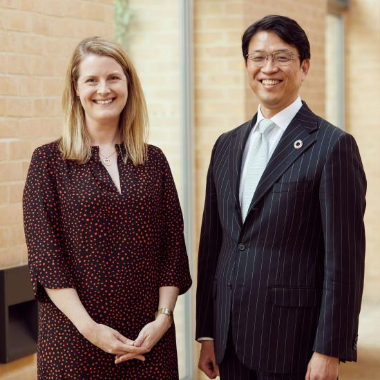 Dr Mary Johnstone-Louis with Hiro Mizuno
