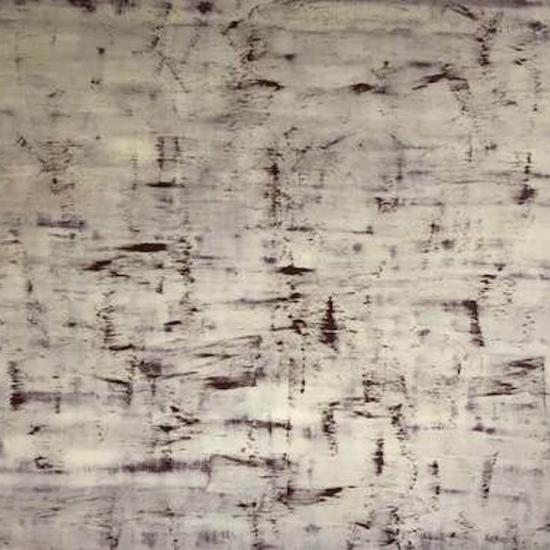 Abstract painting in white and brown