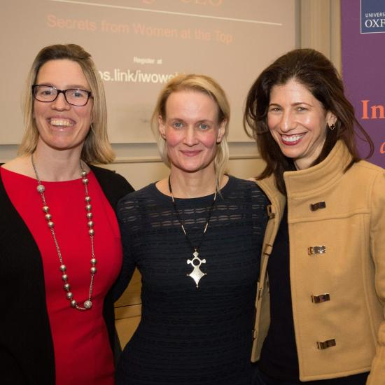 Claire Davenport, Celia Francis and Ariane Gorin at Inspiring Women event