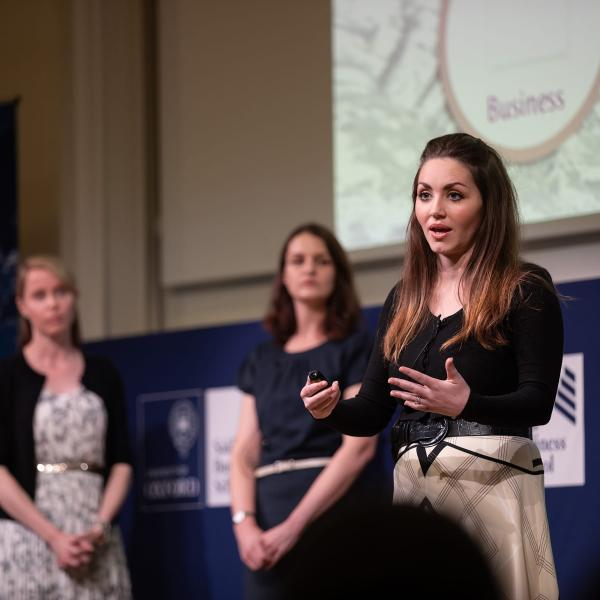Crystal MBA 2018 presenting at the 2018 Global Final of Map the System.