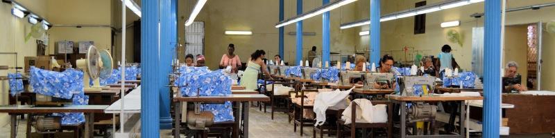 Garment factory in Cuba