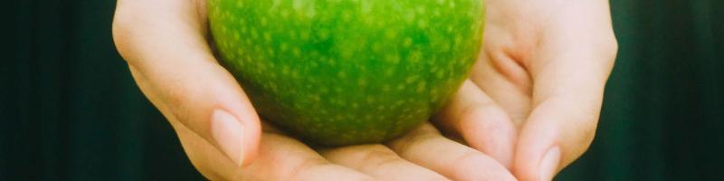 hands holding an apple - Photo by Jony Ariadi on Unsplash
