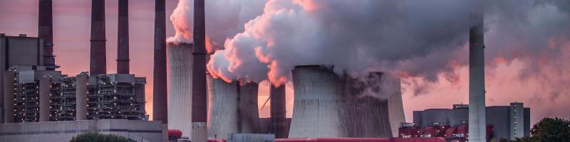 air polluting industrial factories