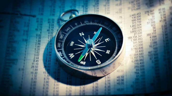 compass and stock market information